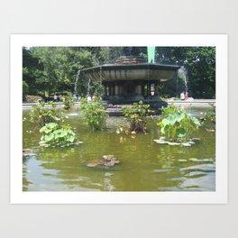 NYC Central park Bethesda fountain Art Print
