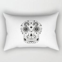 Calavera Mono Rectangular Pillow