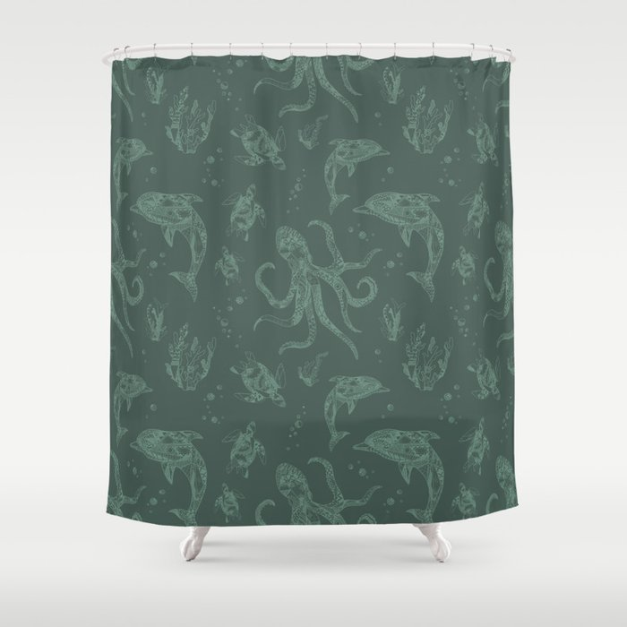 Shafted Sea Shower Curtain