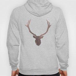 Deer stag silhouette grunge design Hoody
