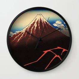Rainstorm Beneath the Summit (Sanka hakū or 山下白雨) Wall Clock