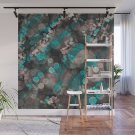 Bubblicious - Teal Pink & Taupe Palette Wall Mural