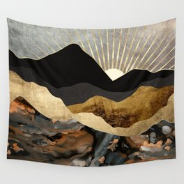 Copper and Gold Mountains Wall Tapestry