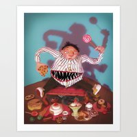 The Tummy Beast Art Print