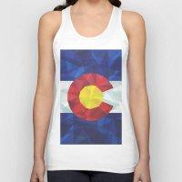 colorado Tank Tops featuring Colorado by Fimbis