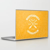 quidditch Laptop & iPad Skins featuring Hufflepuff Quidditch by Sharayah Mitchell