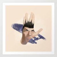 spock Art Prints featuring Spock by ErDavid