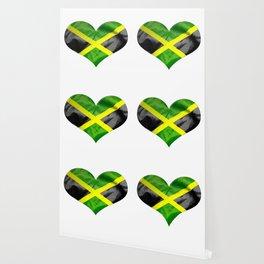 Jamaica Flag Love Heart Wallpaper
