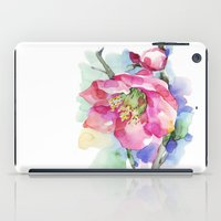 cherry blossom iPad Cases featuring Cherry Blossom by A cup of grey tea
