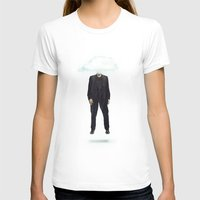 risa rodil T-shirts featuring Head in the Cloud by Vin Zzep