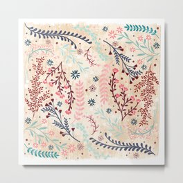 Chinese Flowery Fields Metal Print