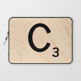 Scrabble Tile C - Large Scrabble Letters Laptop Sleeve