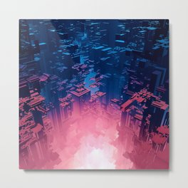 Fusion City Metal Print