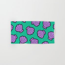 Mermaid Shells Bright Pattern Hand & Bath Towel