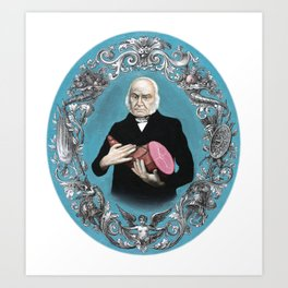John Quincy Adams with Ham Art Print