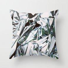 silver foil Throw Pillow