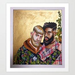 Stylish Couple Art Print