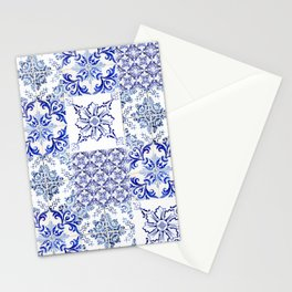 Azulejo VIII - Portuguese hand painted tiles Stationery Cards