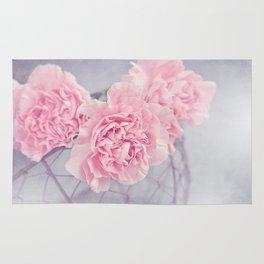 Pale Pink Carnations Rug