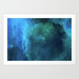 Glitched into Abstraction 3 Art Print