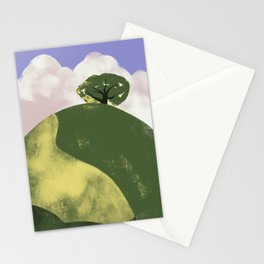 Lone Tree on a Hill Stationery Cards