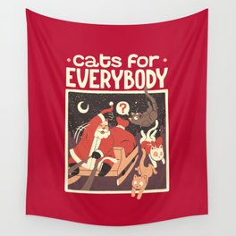 Cats for Everybody Wall Tapestry