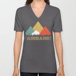 Retro City of Fairbanks Mountain Shirt Unisex V-Neck