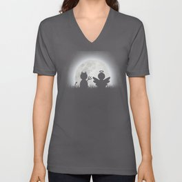 Angel and Devil Moon Meeting Unisex V-Neck