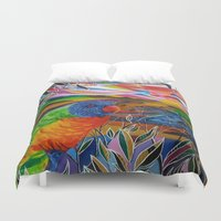 paradise Duvet Covers featuring Paradise by shannon's art space