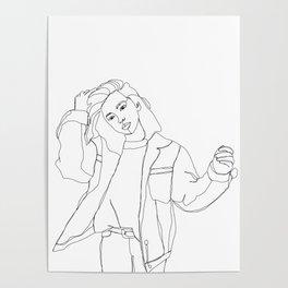 Fashion illustration drawing - Caleb Poster