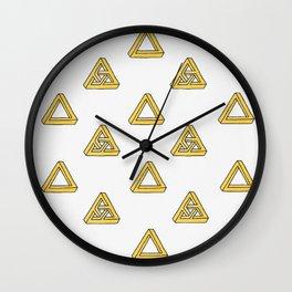 Penrose Triangles Wall Clock
