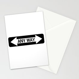 Any way road sign Stationery Cards