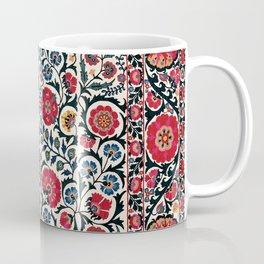 Shakhrisyabz Suzani  Antique South West Uzbekistan Rug Coffee Mug