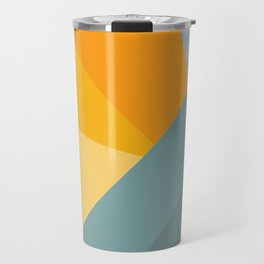 Abstract Mountain Sunrise Travel Mug