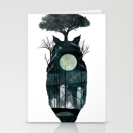 March of the Forest Spirits Stationery Cards