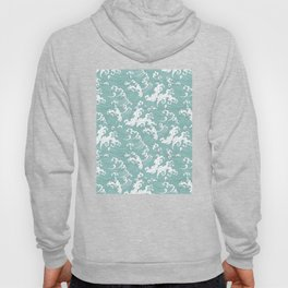 Traditional Hand Drawn Japanese Wave Ink Hoody
