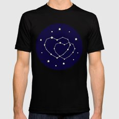 Star Lovers Black Mens Fitted Tee MEDIUM