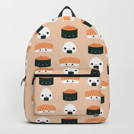 Salmon Dreams in peach, large Backpack