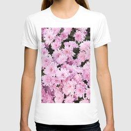 A Sea of Light Pink Chrysanthemums #1 #floral #art #Society6 T-shirt