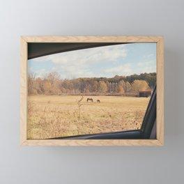 horses Framed Mini Art Print