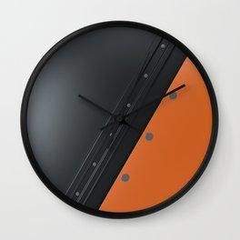 Colored plate with rivets Wall Clock
