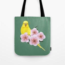 Yellow Budgerigar Tote Bag