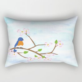 paper springtime Rectangular Pillow