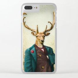 Lord Staghorne in the wood Clear iPhone Case