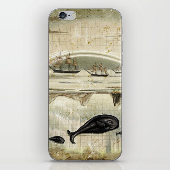 paper II :: whales/ships iPhone & iPod Skin