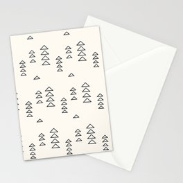 Minimalist Triangle Line Drawing Stationery Cards