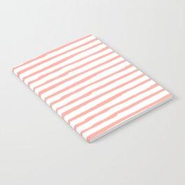 Pink Drawn Stripes Notebook