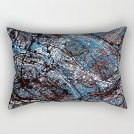 """""""Number 4"""" Abstract Painting by Mark Compton Rectangular Pillow"""