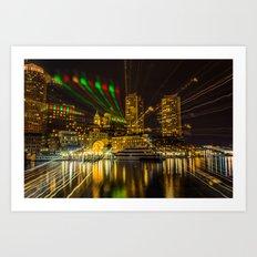 Christmas Light of Boston Art Print