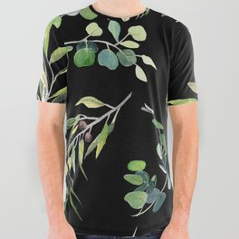 Eucalyptus and Olive Pattern  All Over Graphic Tee